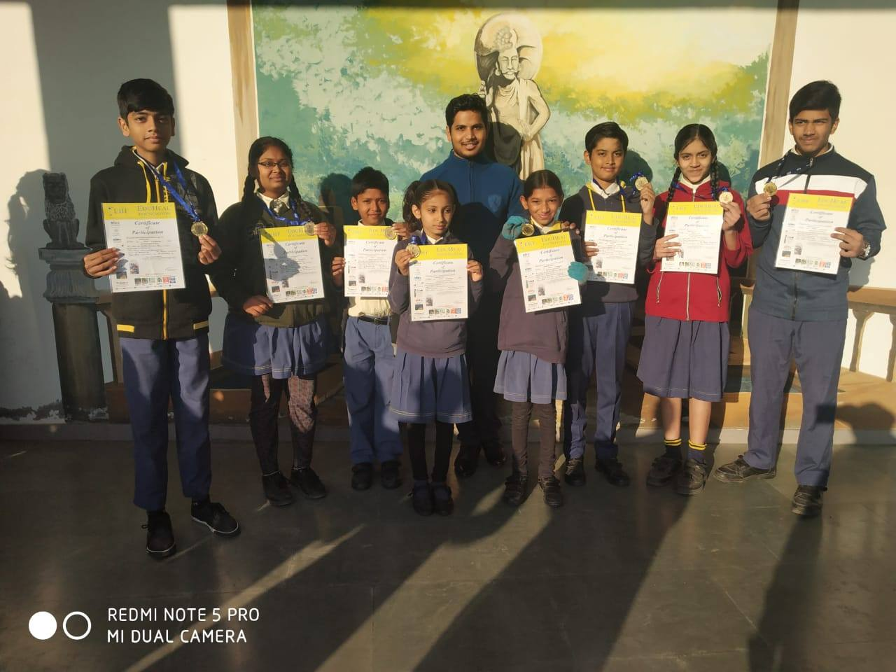 Gold Medal Distribution of Olympiad Art Exam 2018